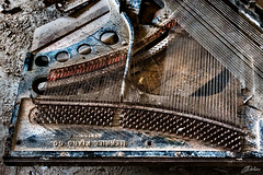 (C.dallaire Photography) Tags: piano broken destroyed asylum abandoned hospital mental instrument music creep creepy