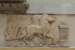 "Siphnian Treasury, XIV – South Frieze, Fragment M (egisto.sani) Tags: 2016 delfi museo ""south frieze"" ""fregio sud"" theseus peirithoos perithous pirito ""rape helen"" helen elena ""rapimento di elena"" ""high relief"" frieze fregio archaic"" ""proto arcaico"" style stile period periodo archaic arcaico arcaica greek greca arte art marble marmo relief rilievo "" siphnian treasury"" ""tesoro dei sinfi"" phocis focide delphi ""archaeological museum"" ""museo archeologico"""