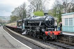 '45212 LMS 5MT 4-6-0' - BLACK 5 STANDS AT GROSMONT (tonyfletcher) Tags: 45212 lms5mt460 black5 steamlocomotive tonyfletcher nikond3300 nikkor18105 nikon nymr northyorkshiremoorsrailway grosmont steam april2nd2017