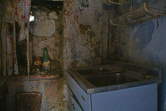 residential building PD02 #10 (jourbexia) Tags: decay decayed decaying derelict dereliction abandoned disused empty europe european urbex urbanexploration urban exploration building buildings rural ruralexploration architecture house houses italy italian interior inside home homes 25years 25 sink sinks dark kitchen