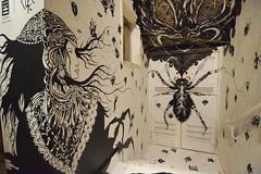 La Veuve Noire (HBA_JIJO) Tags: streetart urban graffiti paris animal art france artiste artist hbajijo wall mur painting peinture exposition insect construction woman araignée femme urbain insecte girl clairecourdavault installation expo oeuvre lab14 clrc