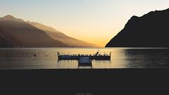 Pier (Nicola Pezzoli) Tags: italy lake garda lago riva trentino nature pier beach sunset seagull reflections silhouette rays light