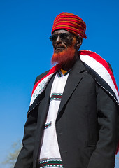 Portrait of a Borana tribe elder with a red beard during the Gada system ceremony, Oromia, Yabelo, Ethiopia (Eric Lafforgue) Tags: adult africa badhaasa beard boran borana borena celebration ceremony colourpicture culturalheritage eastafrica ethiopia ethiopia0317360 gaada gada gadasystem gadaa henna hornofafrica onemanonly oneperson oromia oromiya oromo oromya outdoors red seniormen traditionalculture tribalculture turban unesco vertical waistup yabello yabelo et