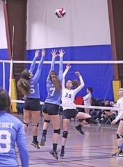 IMG_2589 (SJH Foto) Tags: girls volleyball teen teenager team quickset storm u14s net battle spike block action shot jump midair burst mode