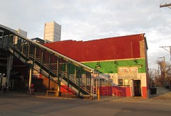 California Green Line station, Chicago (katherine of chicago) Tags: chicago garfieldpark eastgarfieldpark cta greenline restaurants