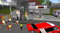 BMA Tankstelle Frankenhain (feuerwehrmeisterbastler) Tags: brandeinsatz bvd einsatzfahrzeuge feuerwehr freiwilligefeuerwehr hlf1 löschzug meisterbastler secondlife