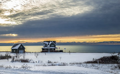 Nobody Home (Danny VB) Tags: nobodyhome sunrise gaspesie winter snow percé québec canada hiver neige froid canon 6d 50mm18