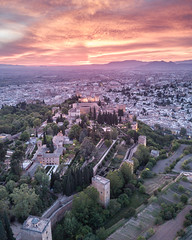 Alhambra (Fabian Fortmann) Tags: alhambra granada spain spanien espania history drone dji mavic sunset colorfull evening summer