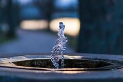 Fountain Freeze (tquist24) Tags: elkhart indiana islandpark nikon nikond5300 bokeh fountain geotagged water unitedstates