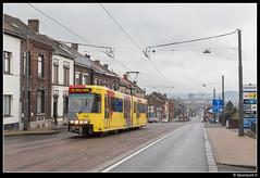 TEC 7432 - M3/48 (Spoorpunt.nl) Tags: 1 april 2017 tec bn wagen tram métro léger de charleroi mlc premetro brugeoise et nivelles lrv light rail véhicule 7432 rit 48 lijn m3 marie curie lodelinsart