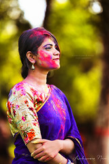 Raisa | Color Festival | Rag Day KU (asaduzzaman.noor) Tags: female woman girl portrait photography asaduzzaman noor canon 6d 70200mm f28l yn 560 dof dramatic windy beauty beautiful cinematic face color khulna bangladesh ku outdoor festival rag day