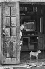 -c20160915_810_0994-Edit (Erik Christensen242) Tags: quảngphú đăknông vietnam vn siblings street house shy bw monochrome
