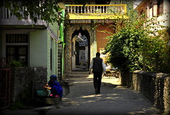 Light and shadows (mala singh) Tags: street door woman man india architecture