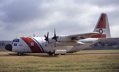 1500. United States Coast Guard Lockheed HC-130H Hercules (Ayronautica) Tags: 1500 unitedstatescoastguard lockheedhc130hhercules uscg herk prestwick egpk pik scanned aviation ayronautica 1993