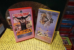 """Seoul Korea vintage Korean VHS tapes on Daewoo and Goldstar labels - """"Catching some Zs"""" (moreska) Tags: seoul korea vintage korean vhs tapes retro oldschool goldstar grizzly horror bmovie drivein cult 1976 zigzagstory french comedy import nude daewoo clamshell t90 analogue homevideo videocassette archive museum hangul fonts graphics cover arts rok asia"""