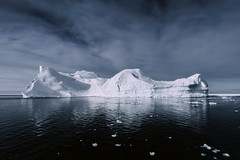 Icescape 2 (Atmospherics) Tags: greenland iceburgs icescape ilulissat iceburg icefjord ice greenlandwinter atmospherics arcticcircle arctic polar icecap