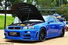 2002 Nissan Skyline GTR R34 - ZILARR (jemil.memedi22) Tags: australia melbourne car nissan skyline gtr r34 jdm meet 100mm certified iii coupe vehicle fujifilm xe1 outdoor lines trees nature clouds water summer lights stance japanese tuner colourful colour