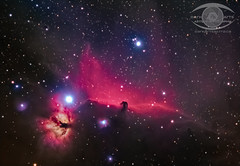 Flame and Horsehead Nebulae - Revisited. (Dark Arts Astrophotography) Tags: astrophotography astronomy space stars sky star night nebula nature natur ngc kingston kingstonist astrometrydotnet:id=nova2006849 astrometrydotnet:status=solved