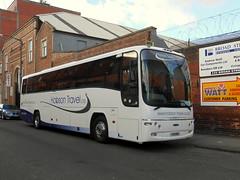 Hobson Travel, Y13 HOB (PN05 AFE) (miledorcha) Tags: hobson travel larkhall lanarkshire dennis rseries r410 plaxton paragon y13hob pn05afe alfa coaches holidays euxton lancs coach psv pcv luxury