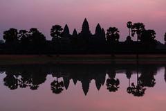 Angkor Sunrise (Derek Robison) Tags: cambodia angkor angkorwat temple ruins asia sunrise silhouette