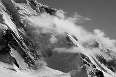Cloud, suspended (Danae Sheehan) Tags: blackandwhite monochrome antarctica landscape view cold snow ice rock black white sky scenic still antarctic peninsula mountains ridges water