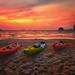 Sea kayak sunset