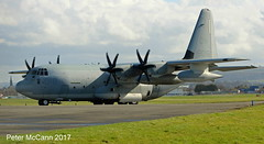 169018  C130 USAF Glasgow March 2017 (pmccann54) Tags: 169018 usaf c130hercules