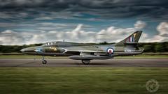 """ Prowling Hunter "" (simonjohnsonphotography.uk) Tags: nikonaviation raf aircraft nikon aviationphotogtaphy aviation t7 jet xl565 panning bruntingthorpe sjaviationnet airshow coldwar hawkerhunter"