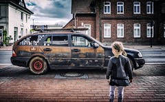 The proverbial rust bucket. (Mister G.C.) Tags: street urban photography colour color rustbucket rusty car germany