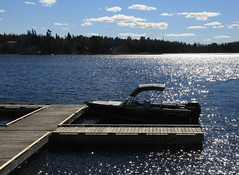 Sparkling Waters (Cindy's Here) Tags: sparklingwaters lake sparkling dock boat kenora ontario canada canon ansh scavenger16 travel 100xthe2017edition 100x2017 image19100 floating