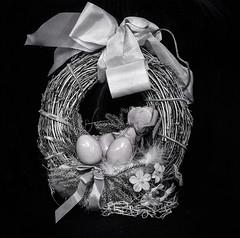 Happy Easter ... ; (c)rebfoto (rebfoto) Tags: easter happyeaster eggs eggsinnest rebfoto blackandwhite