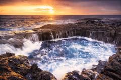 The Sea Hole (Miguel Gomez Photography) Tags: sea mar landscape seascape longexposure largaexposicion amanecer sunrise nubes clouds la garita bufadero las palmas de gran canaria miguelgomezphotography nikon