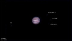 Jupiter and the Galilean Moons - April 15, 2017 (Tom Wildoner) Tags: tomwildoner leisurelyscientistcom leisurelyscientist astronomy astrophotography astronomer jupiter io callisto europa ganymede solarsystem planet moons space science meade telescope lx90 celestron cgemdx asi290mc zwo weatherly pennsylvania nightsky night april 2017 sky video stacking autostakkert firecapture adobe lightroom registax