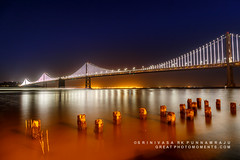 Bay  Bridge Illumination (rkpunnamraju) Tags: outdoor travel bridge sanfrancisco baybridge