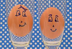 Fragile love... (Maria Godfrida) Tags: smileonsaturday eggs two pair couple love fragile glass glasses smile happy 7dwf
