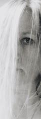 Is it all just a dream? (INSTAGRAM - tania.prosdocimo) Tags: mist selfie focus eye white fantasma ghost bw blackandwhite selfportrait