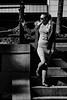 Stairs 2 bw (asaamane) Tags: fashion jaanaviren kotka muotokuva tfcd casual miljöö tyttö