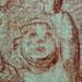 BALASSI Mario - Sainte Conversation avec Ste Cécile et Deux Saints (drawing, dessin, disegno-Louvre INV59) - Detail 26