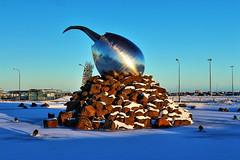 Jet Nest (Albert Jafar) Tags: jetnest keflavikinternationalairport magnustomasson iceland snow photographerswharf ngc worldtrekker fantasticnature outdoor rocks dawn bluesky