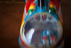 Coming At Me (HMM) (13skies) Tags: happymacromondays spaceship spaceshiptoy intentionalblur incamerablur movement moving slow settings hard macroscopic quick toys rollingalong playing timing prepare ready sonyalpha100 monday macromondays colour small fleamarket