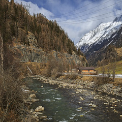 (icqipsy) Tags: eos 35mm 5d icqipsy water winter way reflection trees travel tree stone sky lightroom mountain holiday panorama adobe abigfave freedom february geotagged landscape cloud canon vsco river nature snow markii mountains austria soelden