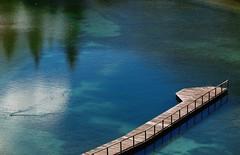 Faut pas rêver (nathaliedunaigre) Tags: eau water reflets reflections colored coloré bleu blue ponton stunning étonnant paysage landscape savoie france lesbauges