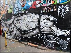 Black & White (Mabacam) Tags: 2017 london eastend shoreditch streetart wallart urbanart publicart spraycanart aerosolart painting paint mural freehand graffiti urbanwall wall blackandwhite head horse camel animal this1