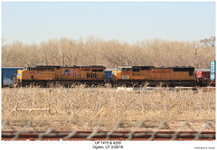 UP 7475 & 4250 (Robert W. Thomson) Tags: up unionpacific ge emd diesel locomotive sixaxle es44 es44ac c45accte sd70 sd70m train trains trainengine railroad railway ogden utah