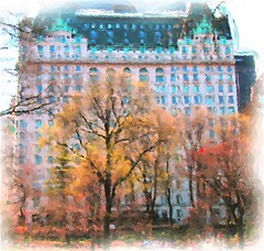 Plaza View (chantsign) Tags: tree watercolor plazahotel centralpark nyc impression spring