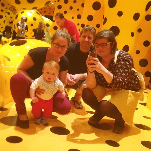 Sid's fave work (not a surprise). #kusama #artbaby