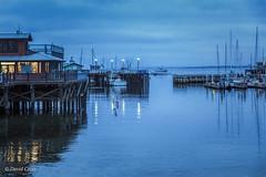 Morning at the Wharf (buffdawgus) Tags: california canon5dmarkiii canonef24105mmf4lisusm centralcalifornia harbor harborscene lightroom6 monterey montereybay montereycounty montereywharf pacificcoast pacificocean pier sailboat topazsw westcoast blue