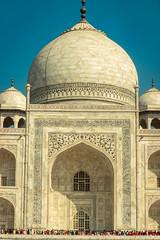 Minimalistic - Agra, India (Kartik Kumar S) Tags: tajmahal taj agra uttarpradesh mehtab bagh sunrise clouds colors borders fences canon 600d tokina 1116mm sunset people architecture monument