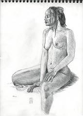 2017 04 10 Nu Chantal 03 (karl_nemo1954) Tags: nu femme dessin croquis crayon modèlevivant