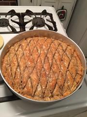 Making baklava (ilamya) Tags: baking baklava dessert pastry
